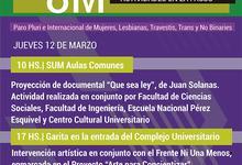Acciones y documentos en sedes universitarias por el #8M