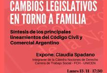 Capacitación: Cambios legislativos en torno a familia