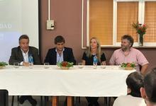 Facultades y Rectorado en el lanzamiento de carreras en Lobería