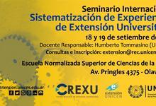 Seminario sobre experiencias de Extensión Universitaria