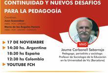 FCH anuncia para el martes 17 la segunda charla sobre educación