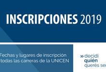 Relaciones Institucionales informa: Inscripciones 2019