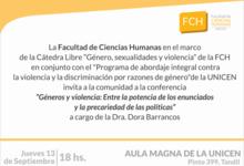 Conferencia de Barrancos en Cátedra sobre géneros y sexualidades