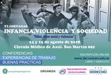 VI Jornadas de Infancia, Violencia y Sociedad