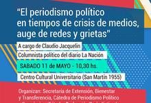 """""""El periodismo en tiempos de crisis de medios, auge de redes y grietas"""""""