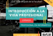 """Primera """"Jornada de Introducción a la Vida Profesional"""""""