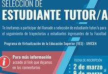 Llamado a selección estudiantes tutores VES-UNICEN