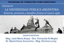 Universidad Pública: historia, presente y desafíos