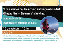 Charla sobre los caminos del Inca como Patrimonio Mundial